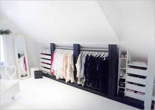 am nager un dressing sous combles avec un petit budget. Black Bedroom Furniture Sets. Home Design Ideas