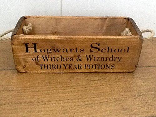 Cagette en bois vintage chic Harry Potter