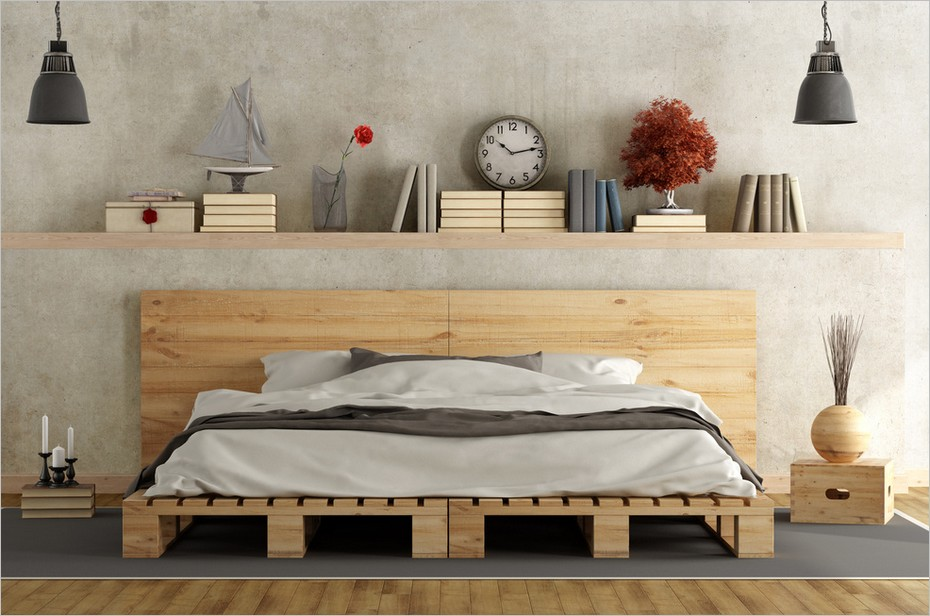 pas de place pour un chevet 5 astuces pour remplacer une table de nuit. Black Bedroom Furniture Sets. Home Design Ideas