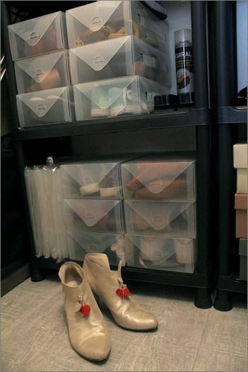 Rangement des chaussures dans le placard