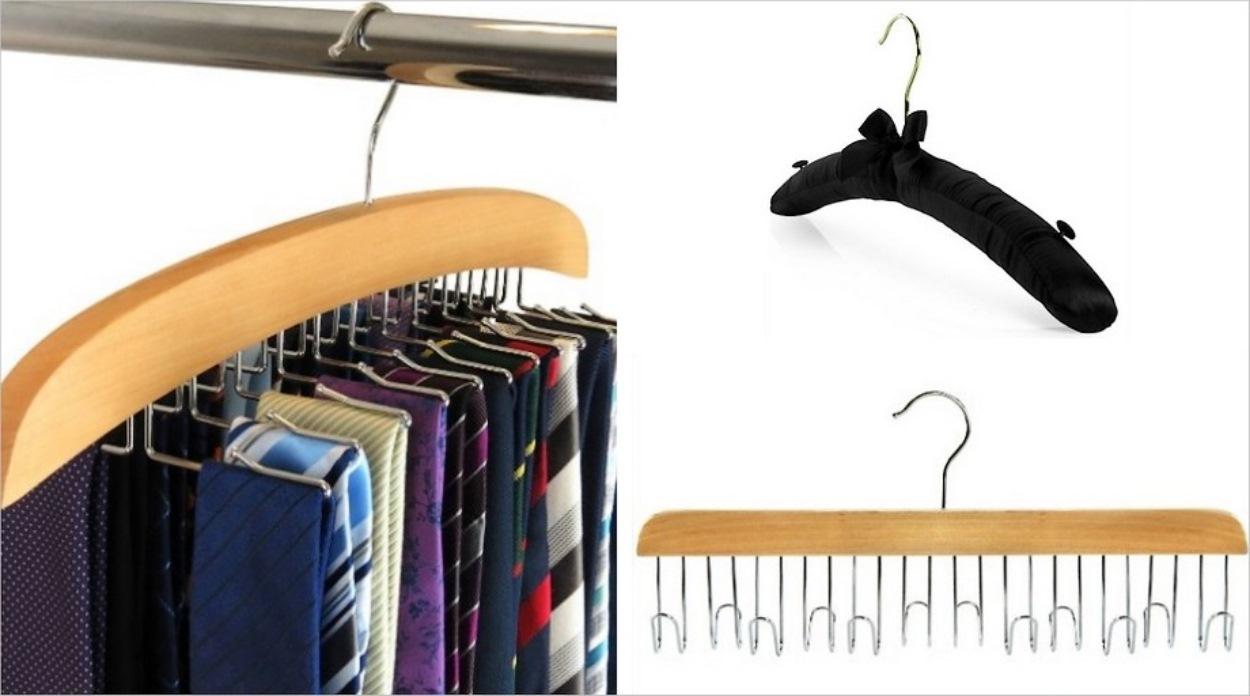 Cintres pour cravates, lingerie et ceintures