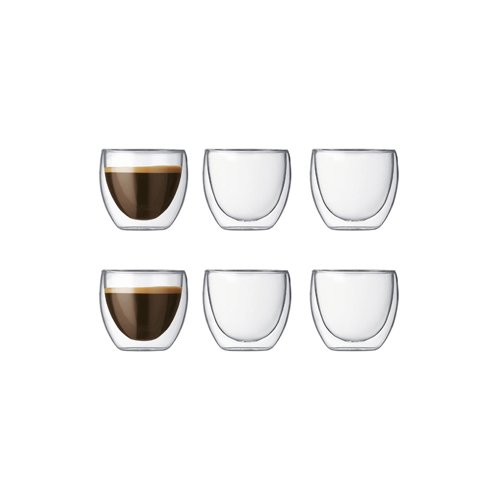 6 tasses à café anti-brûlures