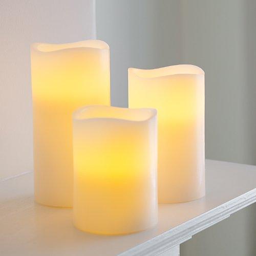 Bougies LED à piles en cire véritable