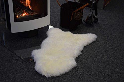 Peau de mouton ivoire (usage comme tapis ou plaid)