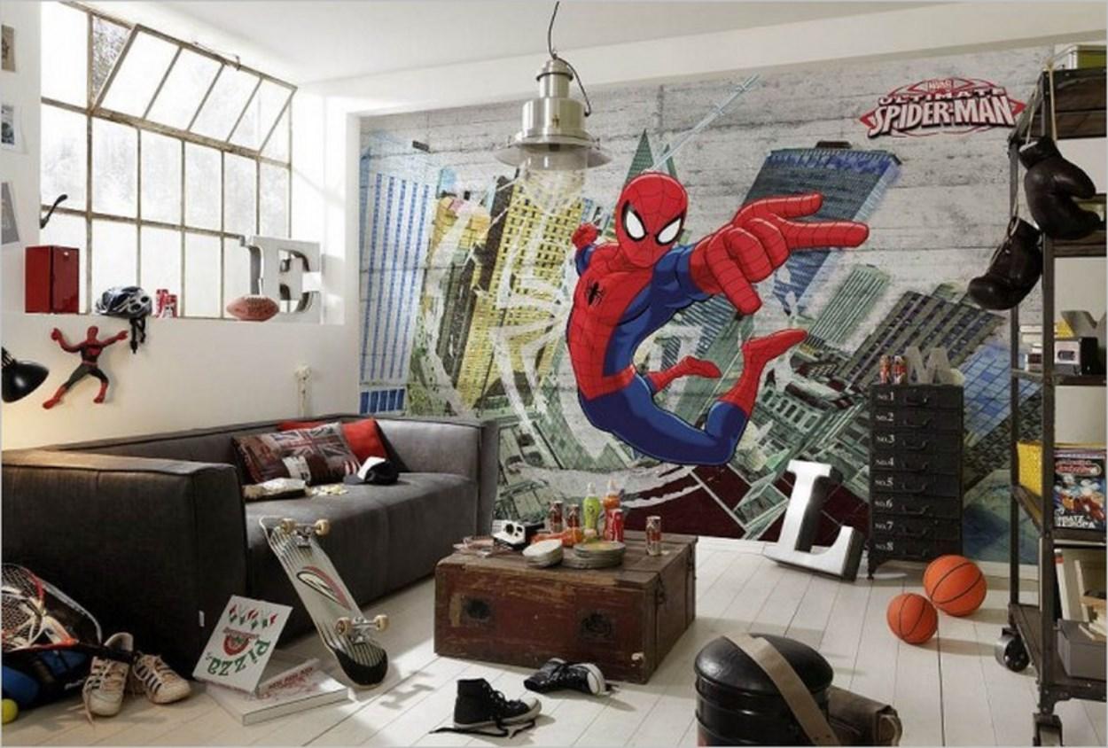 Un décor aux couleurs de Spiderman